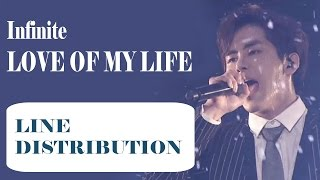 Cover images Infinite - 'Love of My Life' Line Distribution (Color Coded)