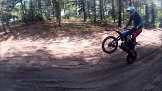 pit bike racing with demonx lxr 140, stomp z2 140, honda crf50.