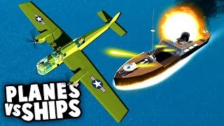BEST MOD EVER MADE! Planes vs SHIP BOMBING Mission! (Ravenfield Best Mods)