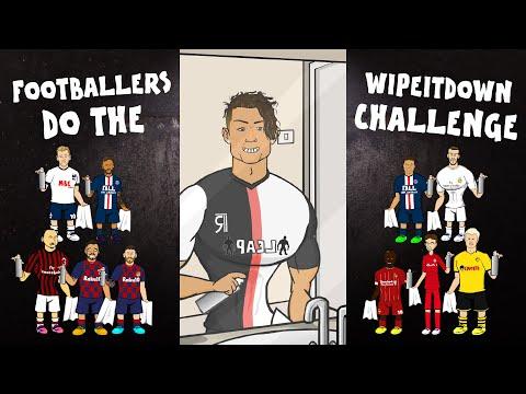 💦Football Wipe It Down Challenge💦 (Feat Frontmen Ronaldo Messi + TikTok Compilation)