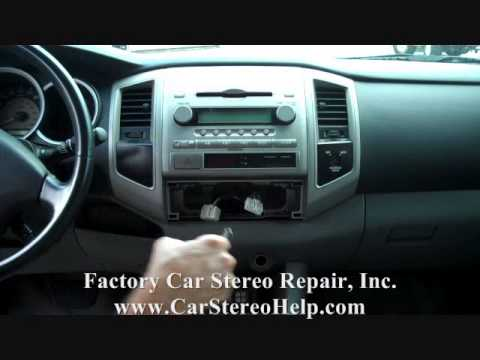Toyota Tacoma Car Audio - Stereo Removal