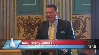 Eagle Scout Ian Manchester visits the Michigan Senate