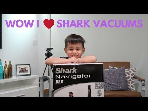 Eli Review:  Shark Navigator DLX Vacuum Unboxing and Demo Fun