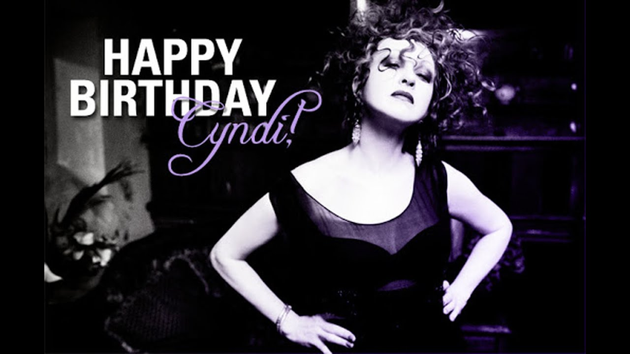 Special Happy Birthday The Queen Cyndi Lauper 67 By Rfl Luca Di Fraia Youtube