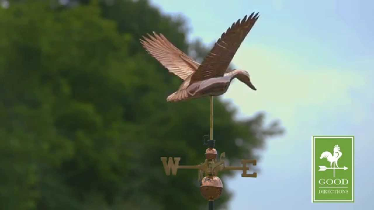 Good Directions 9613p Flying Duck Weathervane Polished Copper Youtube