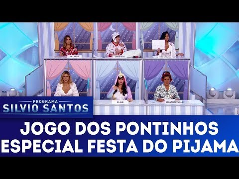 Jogo dos Pontinhos especial Festa do Pijama | Programa Silvio Santos (14/01/18)