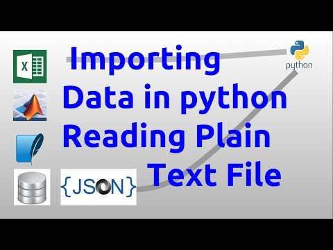 Importing data in python - Reading Plain Text File