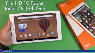 Amazon Fire HD 10 Tablet Hands On (9th Gen)