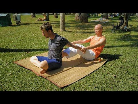 yoga stretch massage part 12  youtube