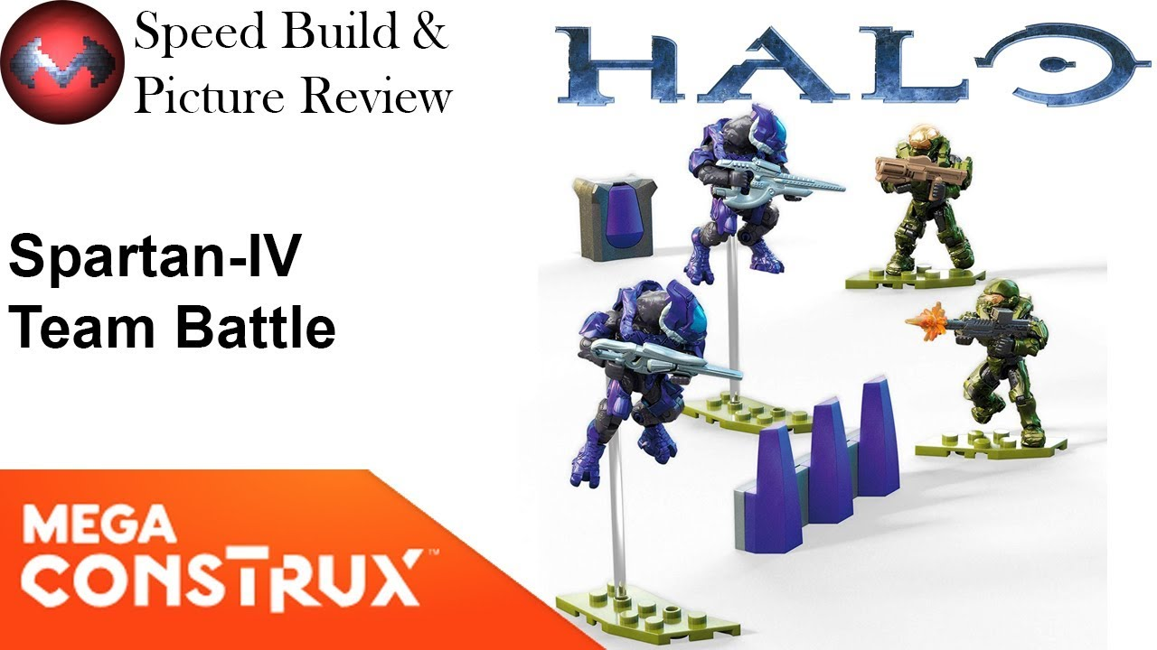 Mega Construx Halo Spartan-IV Team Battle Set Athlon Vector Elite 107 PIECES GCM37