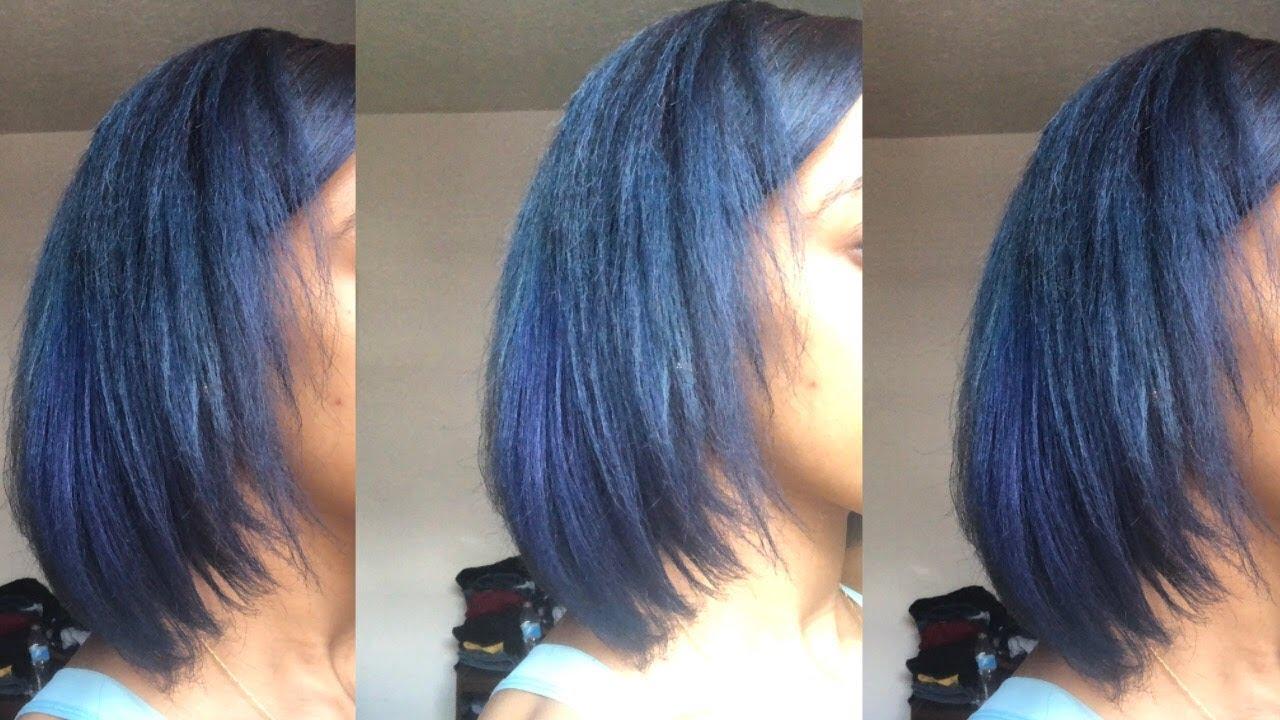 Red Hair To Blue Natural Hair Splat Blue Envy Dye