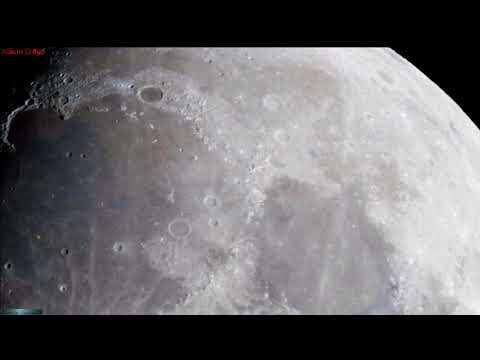 Live Slow Motion Zoom Along The Moon's Terminator Line