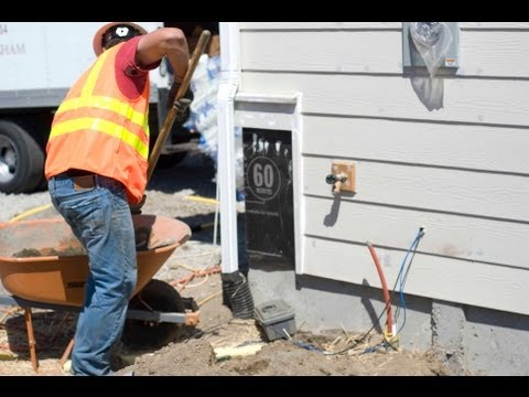 Installing natural gas and electric service: New home construction