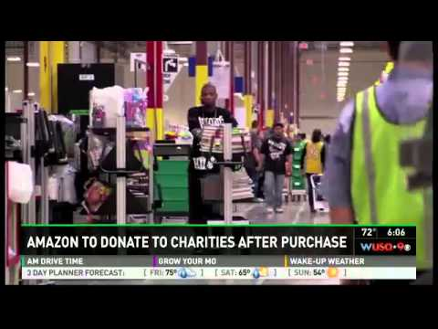 Amazon to donate to charities after purchase