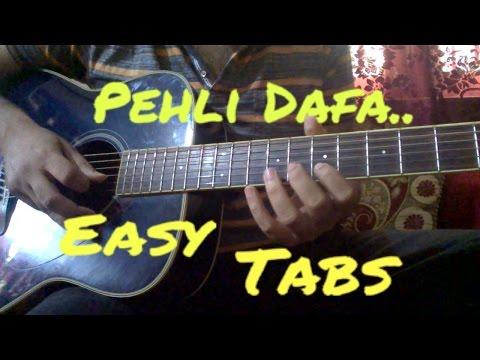 Pehli Dafa Guitar Tabs | Atif Aslam | Easy Beginners Lesson