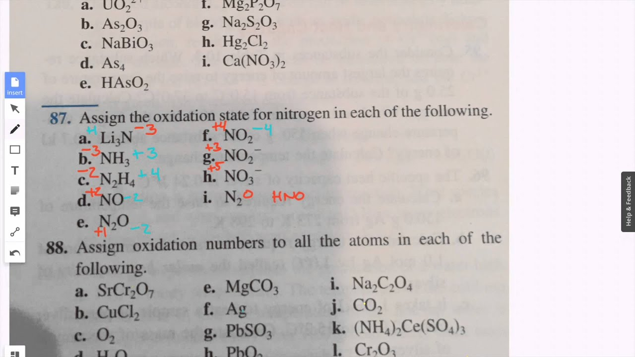 Assign the oxidation state for nitrogen in each of the following assign the oxidation state for nitrogen in each of the following gamestrikefo Image collections