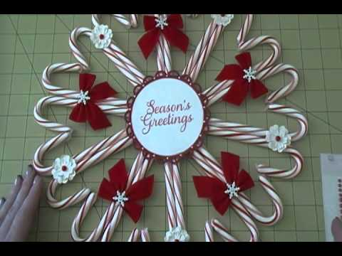 project share candy cane wreath