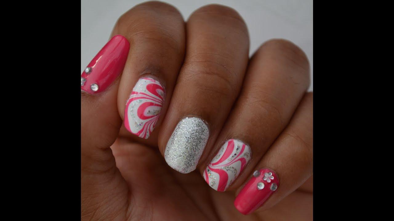 Pink and silver nails - Pink And Silver Nails 52