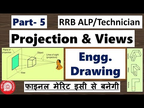 [Part 5] Engineering Drawing for RRB ALP/Technician, Projection & Views, CBT 2 Preparation