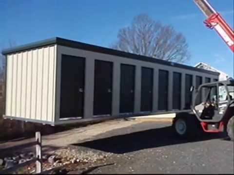 Nice Prefabricated Self Storage Buildings Delivered, Ready To Rent.