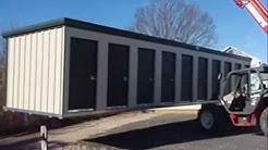 Prefabricated self storage buildings delivered, ready to rent.