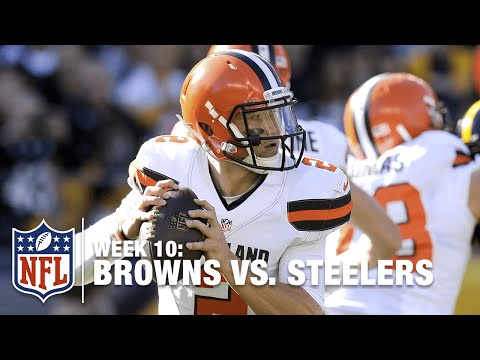 Johnny Manziel's Crazy Fumble on Browns' First Snap of the Game! | Browns vs. Steelers | NFL