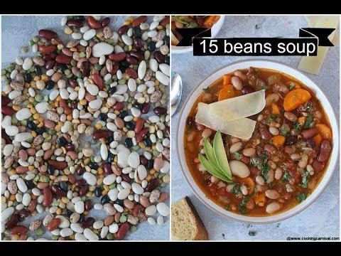 Instant Pot 15 Beans Soup   Vegetarian 15 Beans Soup