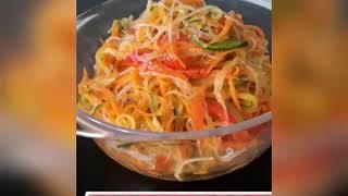 """Салат""""Фунчоза с овощами"""".Пикантный,вкусный салат!Прост в приготовлении!Разнообразие вкуса!"""