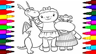 Coloring Pages Doc McStuffins Coloring Page l Kids Drawing and Coloring Disney Junior Lambie Hallie