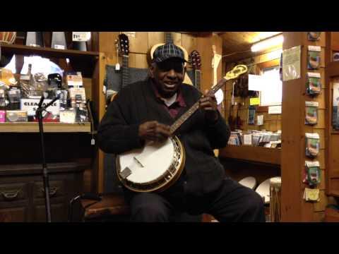 Banjo Jimmy pickin' at Bucks County Folk Music Shop