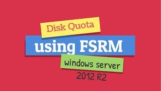 Quota management using FSRM on Windows Server 2012 R2 in Hindi