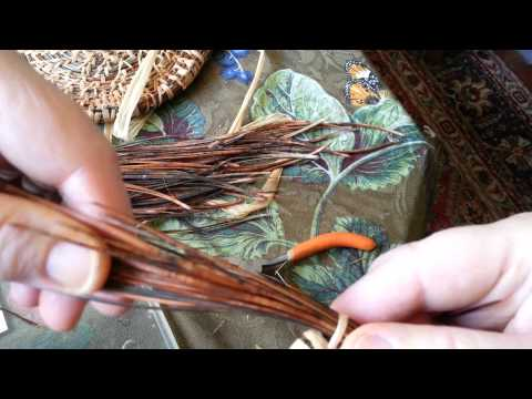 Pine Needle Baskets Part Two: Starting the coil and stitching