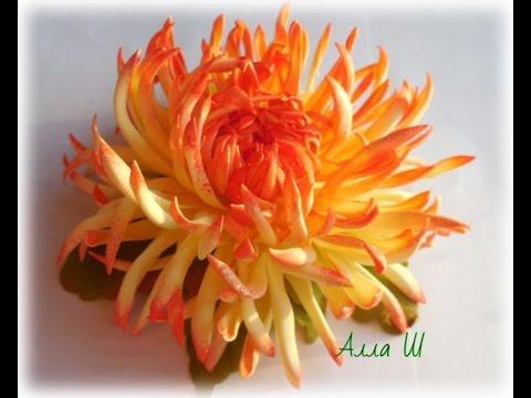 Хризантема на стебле из фома