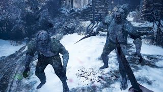 Ethan Winters getting tag teamed by Lycans - Resident Evil 8 Village