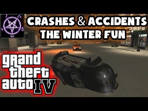 Grand Theft Auto 4 (GTA IV / 4) - Crashes & Accidents 3.0 - The Winter Fun