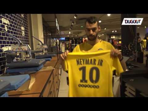 Paris Saint-Germain unveil Neymar Jr.'s No 10 jersey