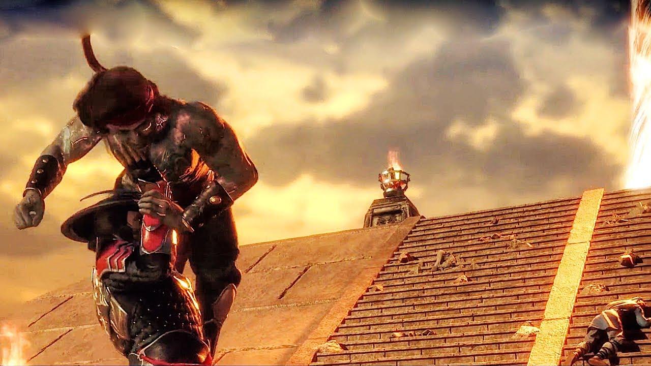 Liu Kang Vs Raiden Different Timelines Flashback Scene Mortal Kombat 11 Youtube