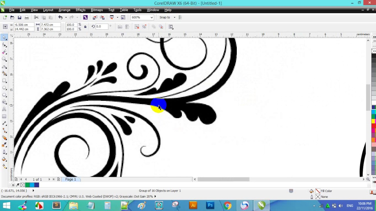 how to convert jpeg file to vector file in coreldraw x6