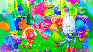 Пазлы для Детей - Собираем Троллей из Мультика | Puzzle Game Trolls | Раскрашка ТВ