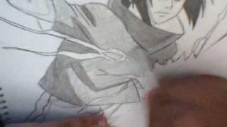 How to draw Sasuke using Chidori for xXdarkwolfXx121