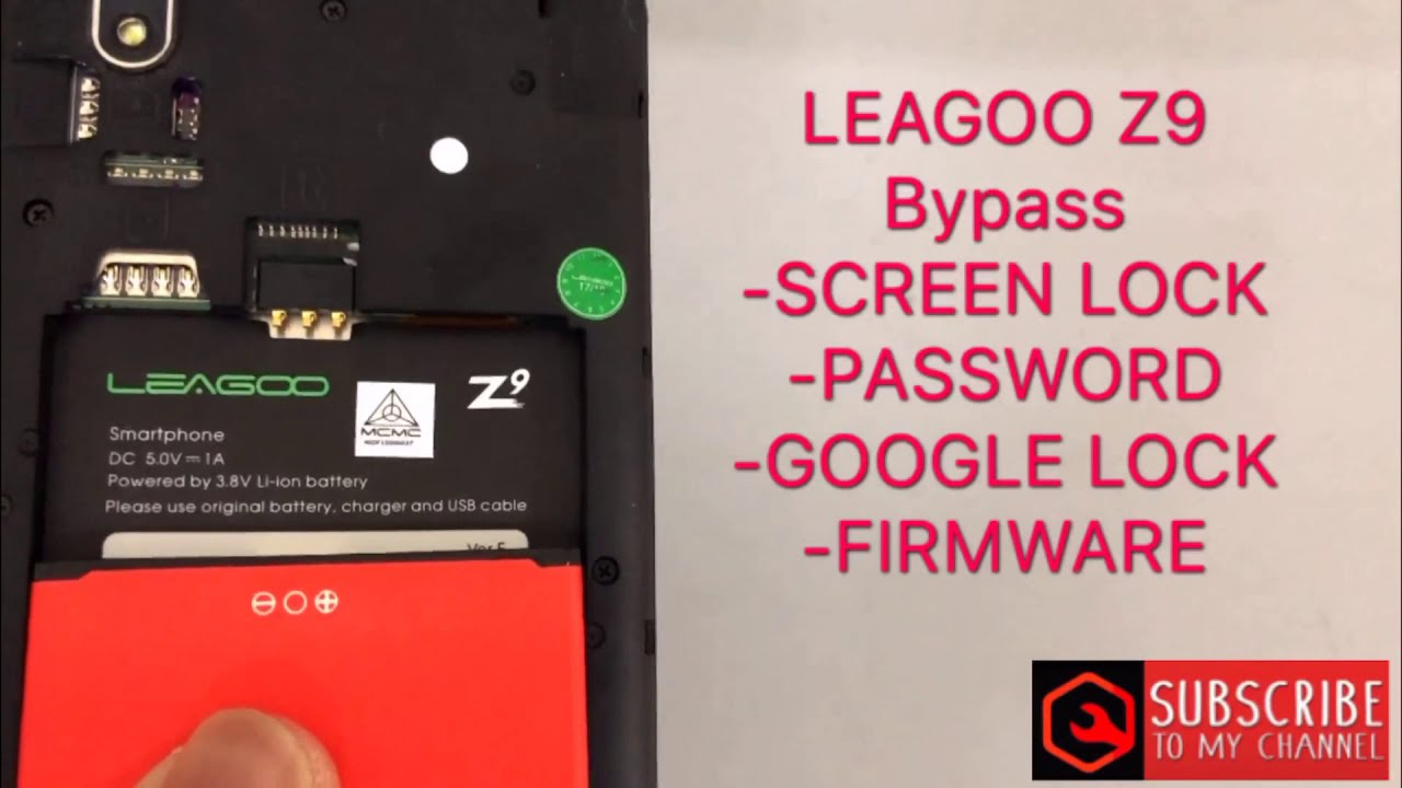 Bypass frp LEAGOO Z9 v8 1 0 remove google account & screen lock & firmware