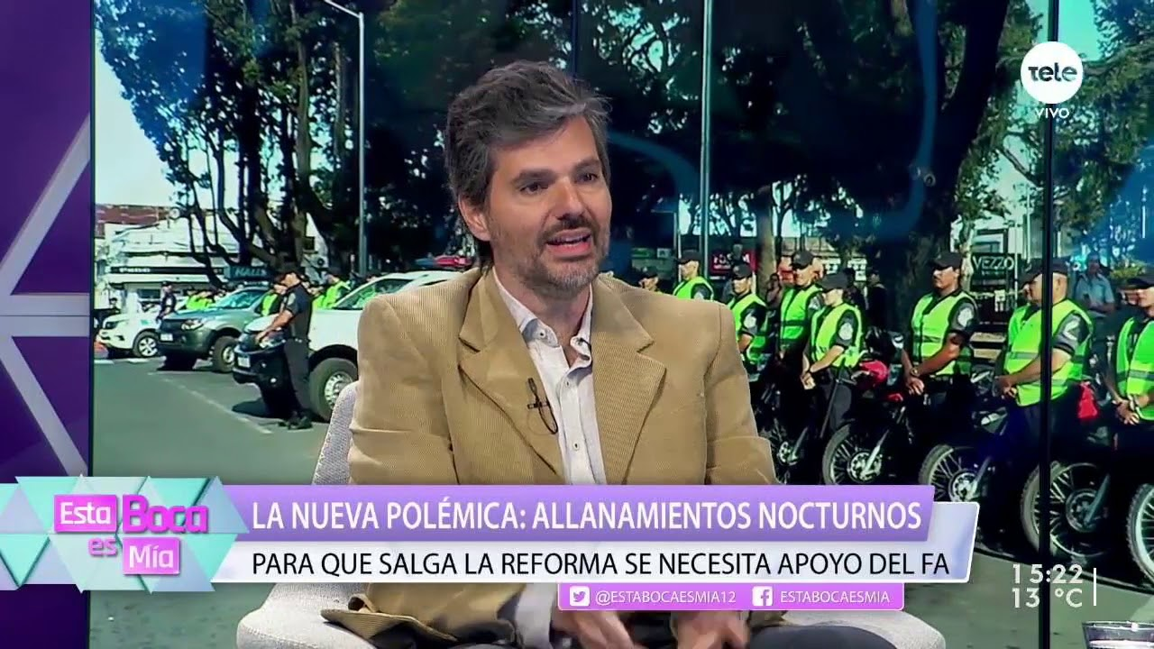 Allanamientos nocturnos: para que salga la reforma se necesita apoyo del Frente Amplio