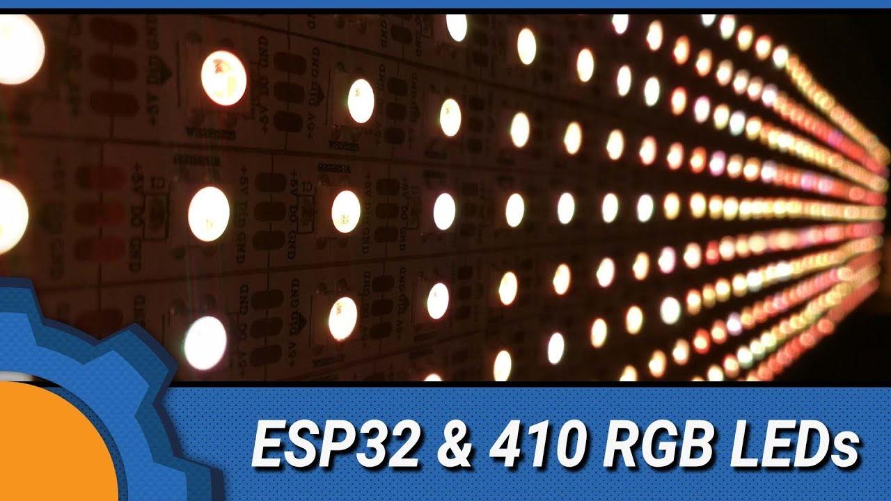 ESP32 & 410 LEDs: Experiments 1 - Matrix - Not Enough TECH