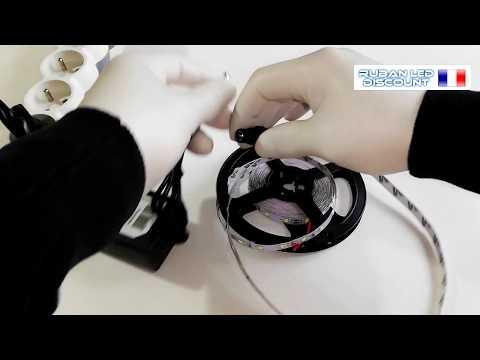 Ruban LED blanc froid kit complet de 1 à 10 mètres vidéo