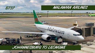 MALAWIAN AIRLINES - ECONOMY   JOHANNESBURG TO LILONGWE   B737   BIDVEST LOUNGE   TRIP REPORT