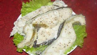 Нежнее рыбу вы не ели. Стейки зубатки в духовке. Самый простой рецепт.