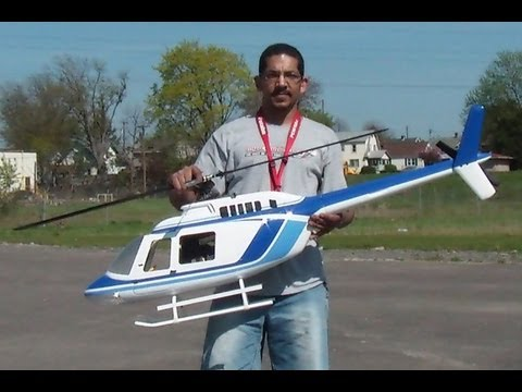 Flying My 700 size Bell 206 from RC Aerodyne