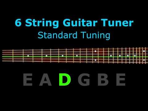 6 String Guitar Tuner - Standard Tuning