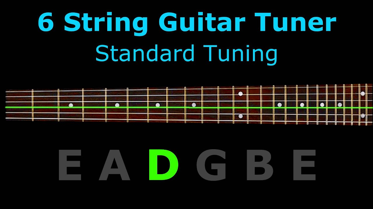 6 string guitar tuner standard tuning youtube. Black Bedroom Furniture Sets. Home Design Ideas