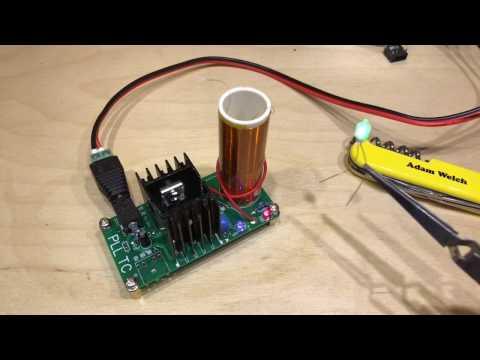 Mini Tesla Coil Plasma Speaker Kit - 12v Solar Shed